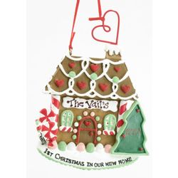 Engravable 1st Christmas Gingerbread House Ornament