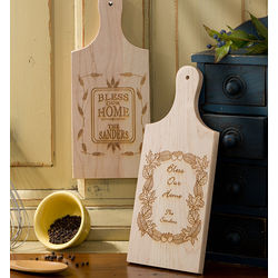 Personalized Bless Our Home Wood Cutting Board