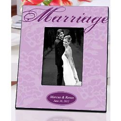 Personalized Lavender Marriage Couple's Frame