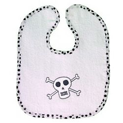 Pirate Skull and Bones Terrycloth Bib