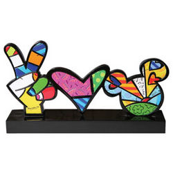 Peace, Love and Mickey Sculpture