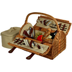 Santa Cruz Design Sussex Picnic Basket for 2