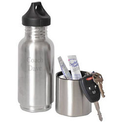 Stainless Steel Water Bottle with Compartment