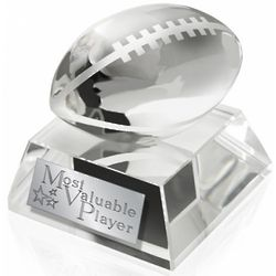 MVP Crystal Football Trophy
