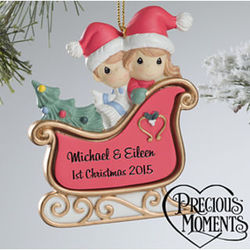 Personalized Precious Moments Sleigh Ride Christmas Ornament