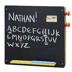 Chalkboard with Alphabet Scroll