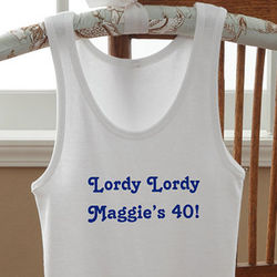Personalized Birthday Greetings Women's Birthday Tank Top