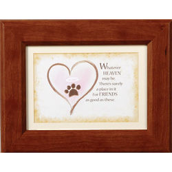 Whatever Heaven May Be Pet Memorial Plaque