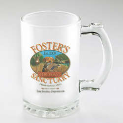 Personalized Sportsman Frosted Beer Mug