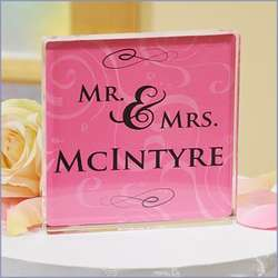 Personalized Mr. and Mrs. Wedding Cake Topper