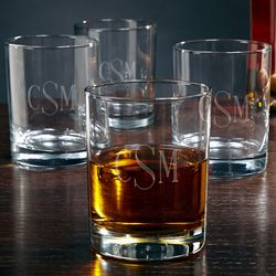 Engraved Monogram Rocks Glasses