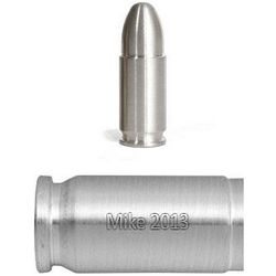 Engraved 9mm Bullion Silver Bullet Replica