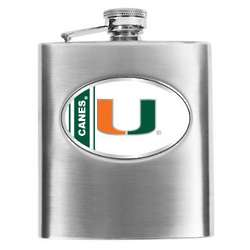 University of Miami Hurricanes Hip Flask