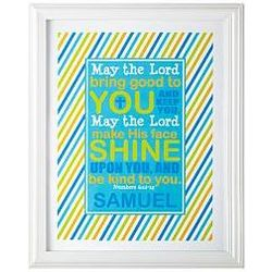 Baby's Personalized May the Lord Framed Print