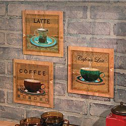 Coffee Wooden Wall Art Prints