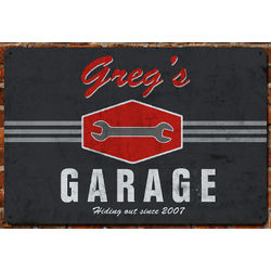 Personalized Garage Wrench Wall Sign