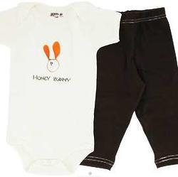 Organic Cotton Baby Short Sleeve Bodysuit and Leggings Gift Set