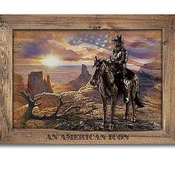 John Wayne: An American Icon Cold-Cast Bronze Wall Decor