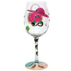 Beach Diva Hand-Painted Wine Glass