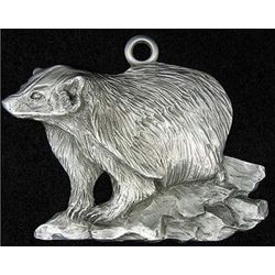 Wisconsin Badger Pewter Ornament