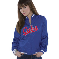 Chicago Cubs Women's Reversible Satin Jacket