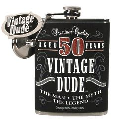50 Year Old Fine Aged Birthday Flask