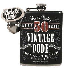50 Year Old Fine Aged Birthday Flask