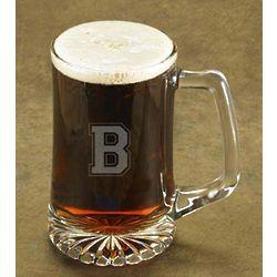 Monogrammed Varsity Beer Mug