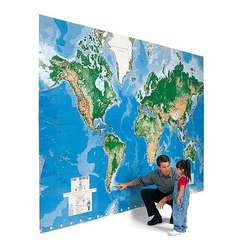 World's Largest Write-On Map Mural