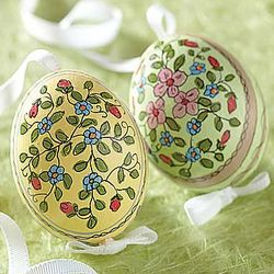 Hand-Painted Easter Egg Ornament Set