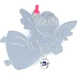 Personalized Angel Christmas Ornament with Jingle Bell
