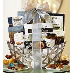 Silver Sophistication Gourmet Gift Basket