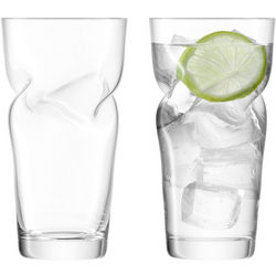 Handcrafted Helix Highball Glasses
