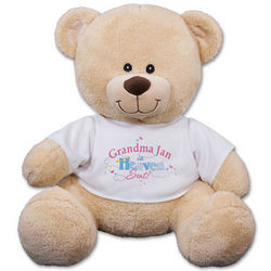 Personalized Grandma or Mom's Heavenly Blessings Teddy Bear