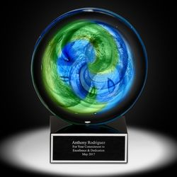 Personalized Aurora Art Glass Award