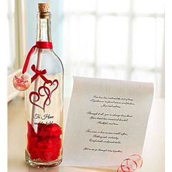 Our Love Has Endured Personalized Message in a Bottle