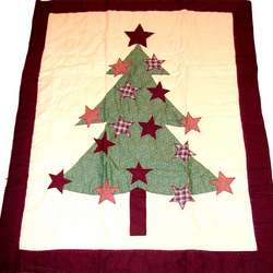 Personalized Christmas Tree Quilted Throw
