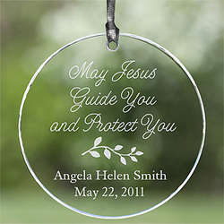 Personalized Glass Suncatcher - May Jesus Guide You