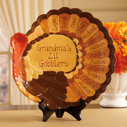 Personalized Turkey Platter