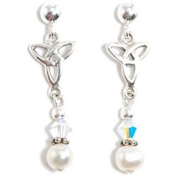 First Communion Trinity Knot Earrings