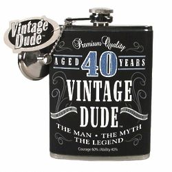 40 Year Old Fine Aged Birthday Flask