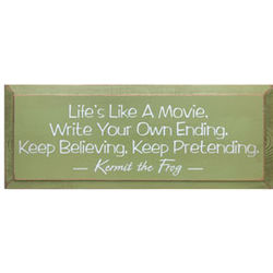 Life's Like A Movie/Kermit Plaque