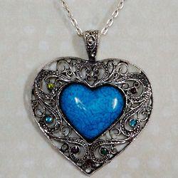 Heart of Stone Jeweled Fashion Necklace