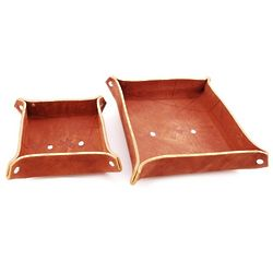 Leather Caddy Set with Embossed Cross