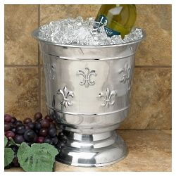 Fleur de Lis Polished Wine Chiller