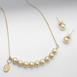 Champagne Pearl Bridesmaid's Jewelry Set