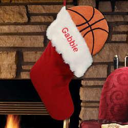 Embroidered Basketball Design Christmas Stocking