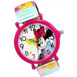Minnie Mouse Paint Splash Stretch Watch
