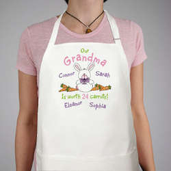 Worth 24 Carrots Personalized Easter Apron