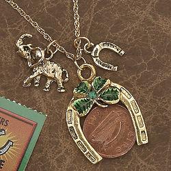 Lucky Irish Coin Pendant